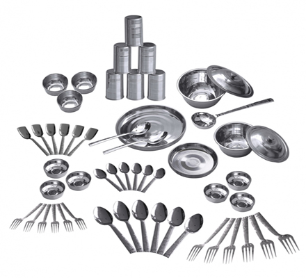 stainless steel crockery set