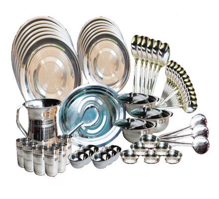 steel dinner sets, wholesaler