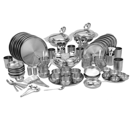 dinner set in steel wholesale