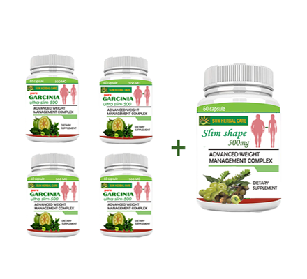 Garcinia Ultra Slim 500 and slim shape pack for 60 days pack