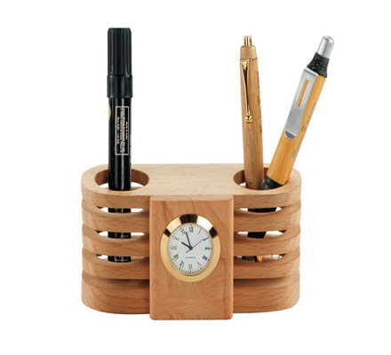 Wooden Table Top Stand single round Watch
